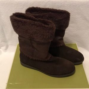 Naturalizer padma brown suede boots